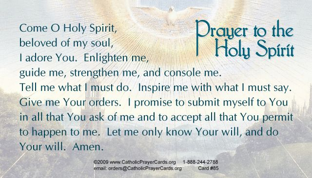 Holy spirit prayer card | Prayers & Inspiration ✞ | Holy spirit