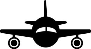 plane silhouette clipart image clip art silhouette of a jet rh pinterest com Airplane Cartoon Clip Art Flying Airplane Clip Art