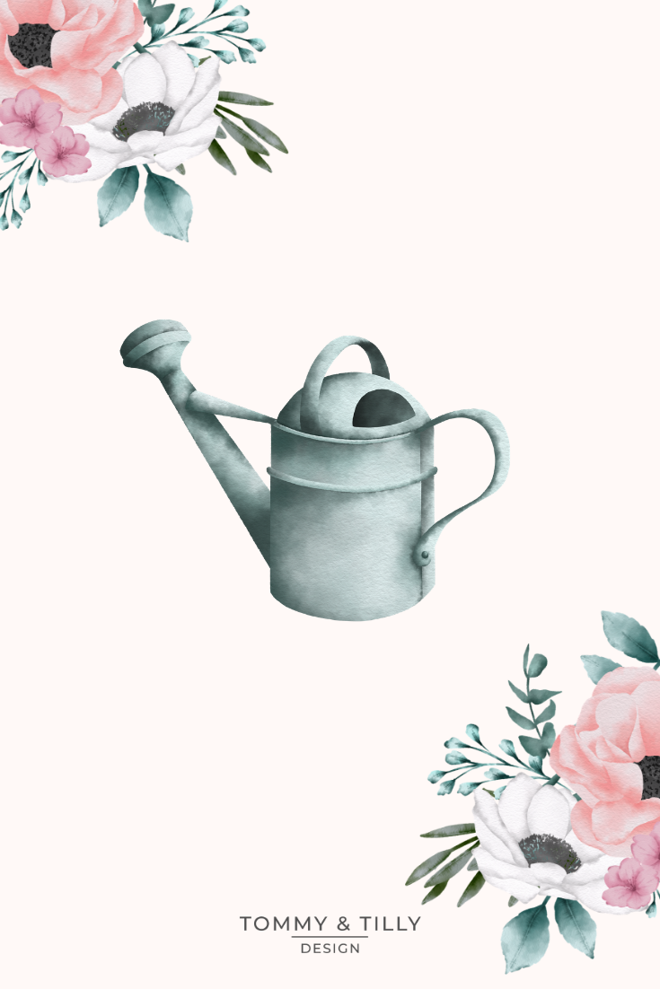Watercolour Floral Watering Cans High Quality Clipart Png Etsy Flower Invitation Floral Watercolor Flower Wedding Invitation