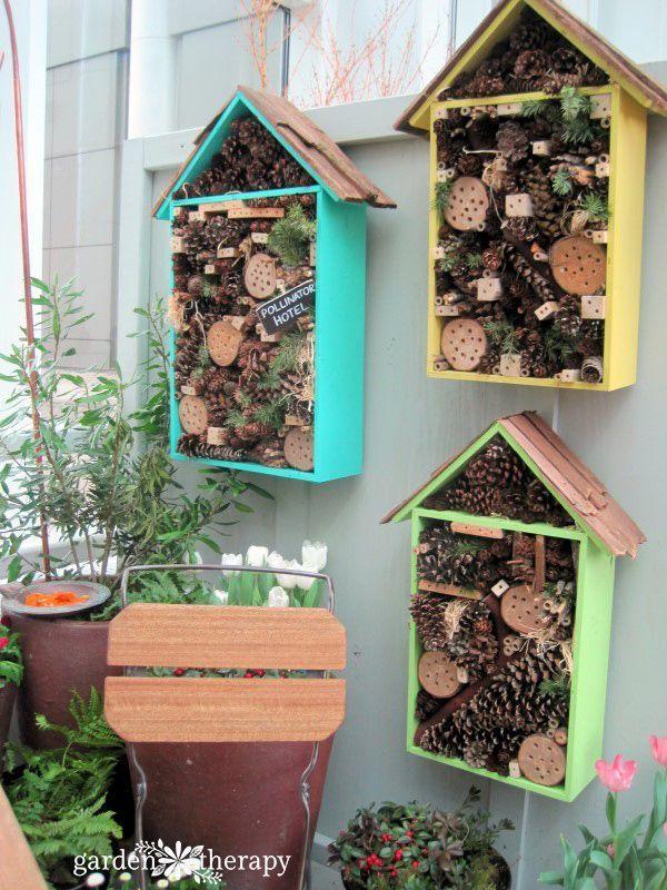 Bug Hotels from the Northwest Flower & Garden Show #flowergarden