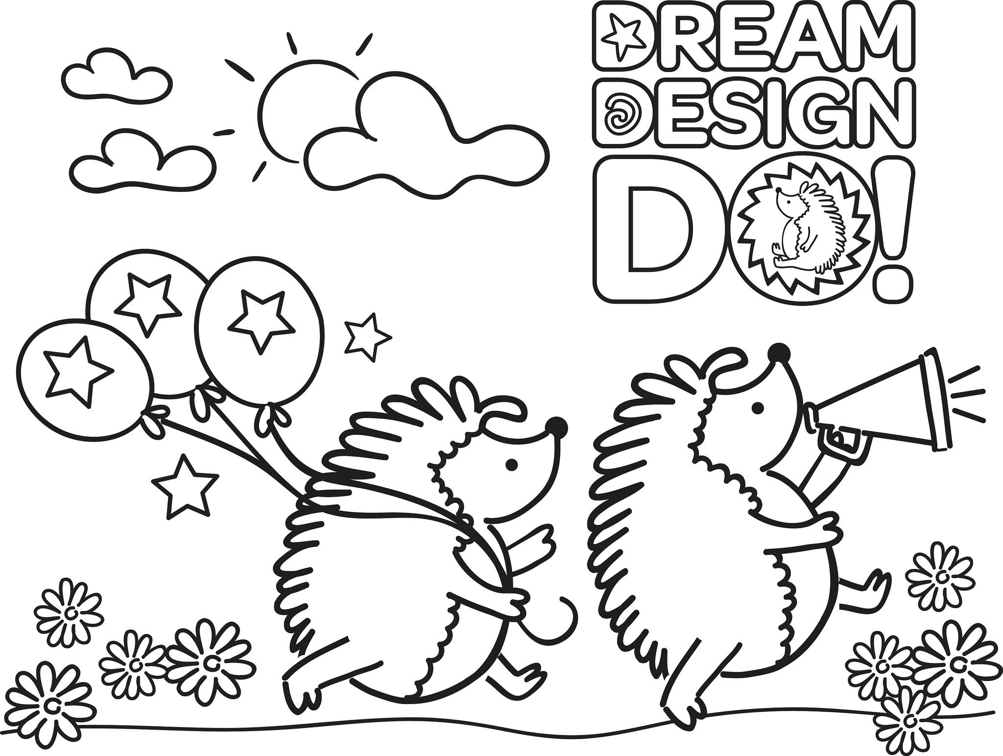 ABC Baker cookie coloring sheet
