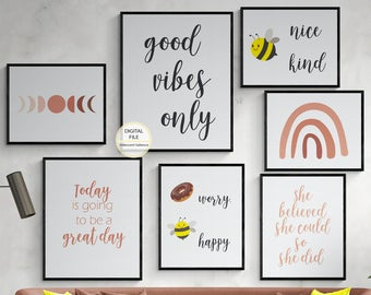 Printable Wall Decor Coupon Code 1st100 For By Iridescentsalience In 2020 Wall Decor Printables Wall Printables Boho Gallery Wall