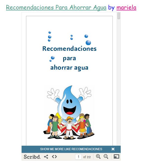 Escuela Infantil Castillo De Blanca Proyecto El Agua Cuidado Del Agua Ahorro De Agua Agua