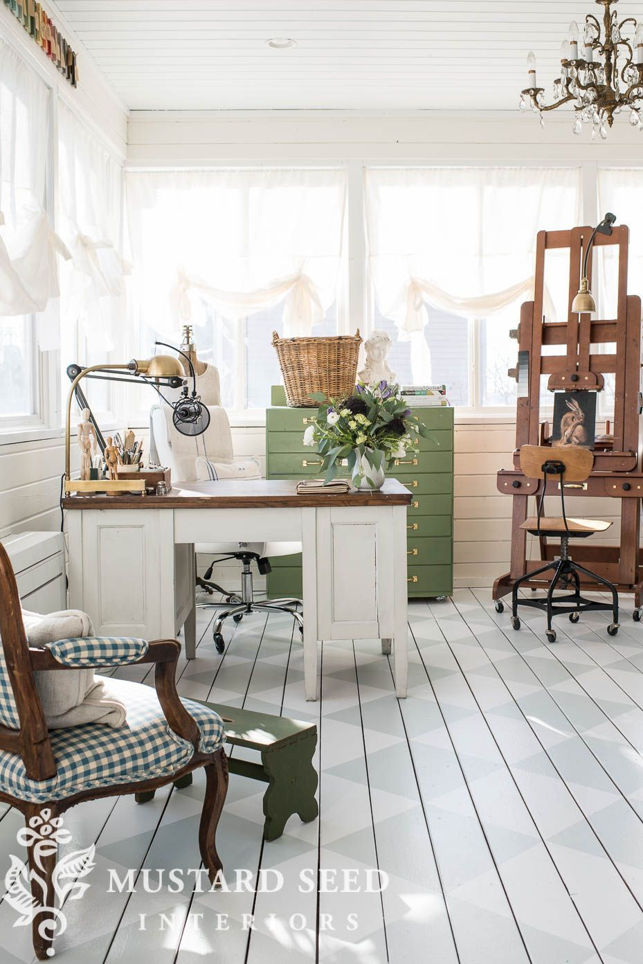 five things decorating a home office miss mustard seed on 91 Comfortable Kitchen Design Tips 2020 id=49921