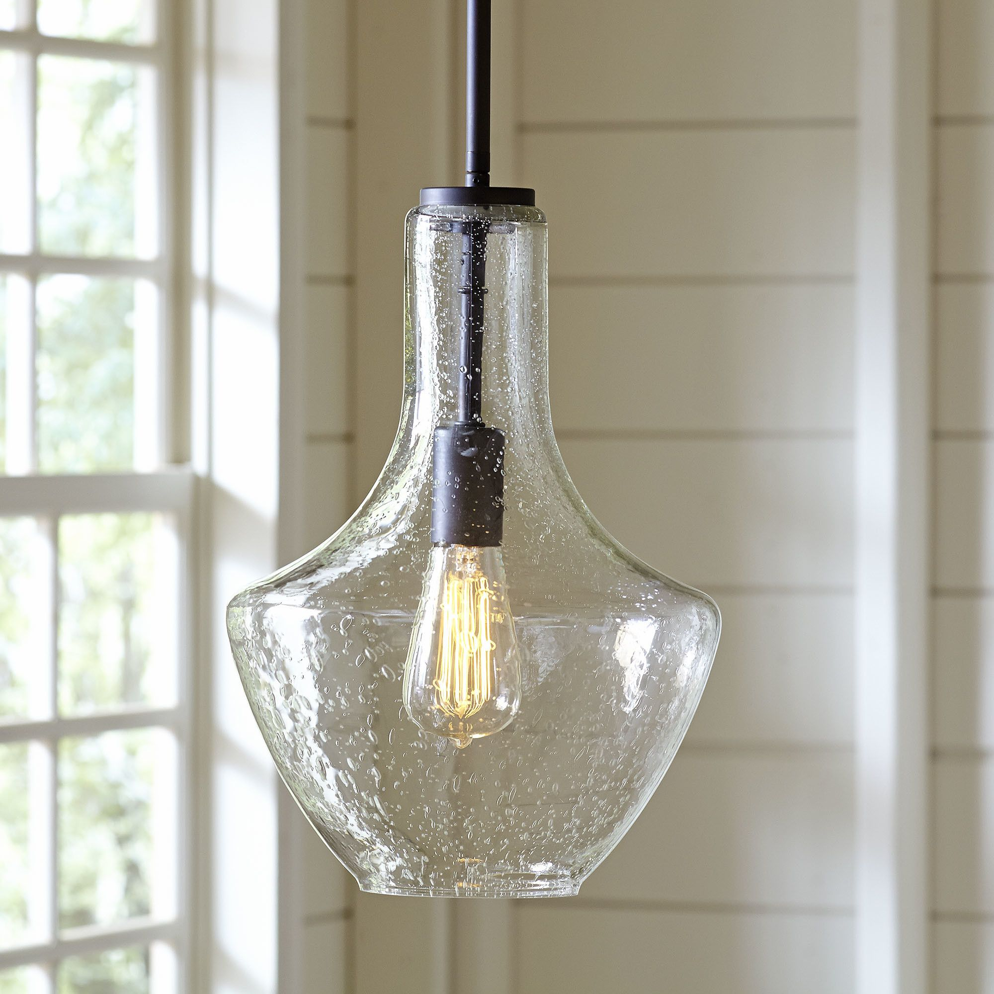 Sutton Pendant Seeded Glass Seeded Glass Pendant Glass Pendant Light Glass Pendants