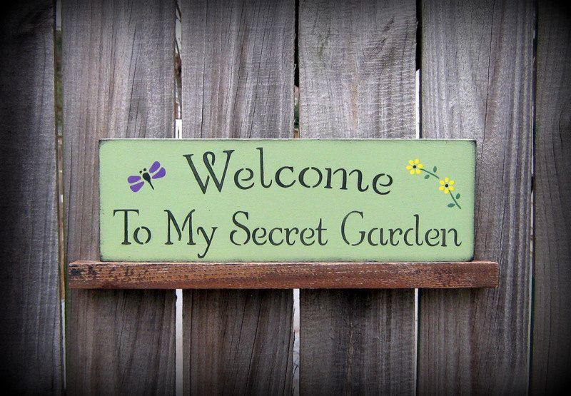 secret garden signs, how to make cottage style signs- secret garden | share your craft, Design ideen
