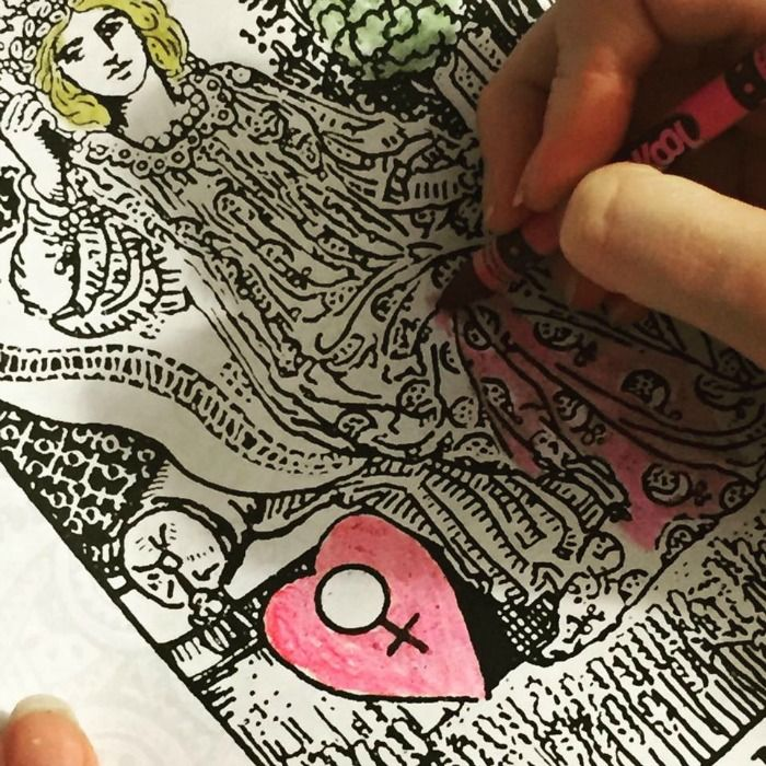 The Tarot Coloring Book Theresa Reed Explore World Of