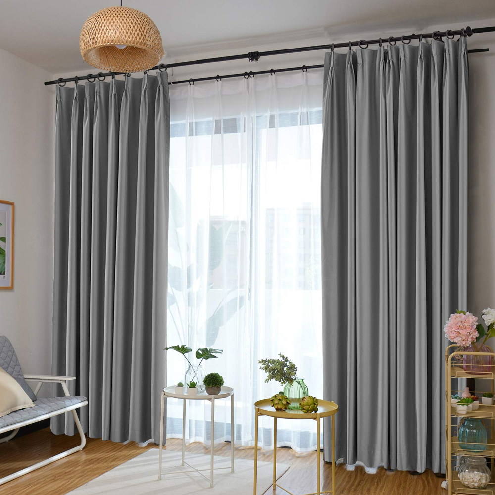 Amazon Com Prim Room Darkening Curtain Extra Wide Blackout Curtain Pinch Pleat Ther Curtains Living Room Living Room Sliding Doors Sliding Glass Door Curtains Insulated curtains for sliding glass doors