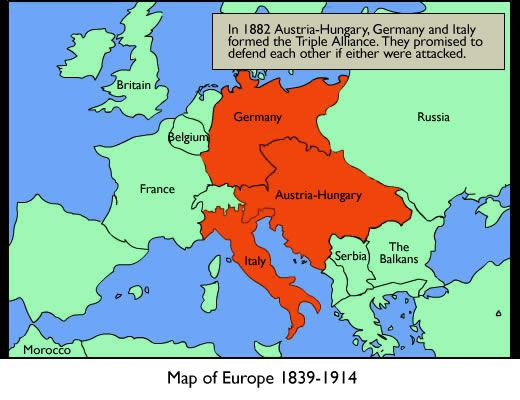 Map Of Germany And Hungary.Germany Austria Hungary And Italy Were The Main Leaders Of The