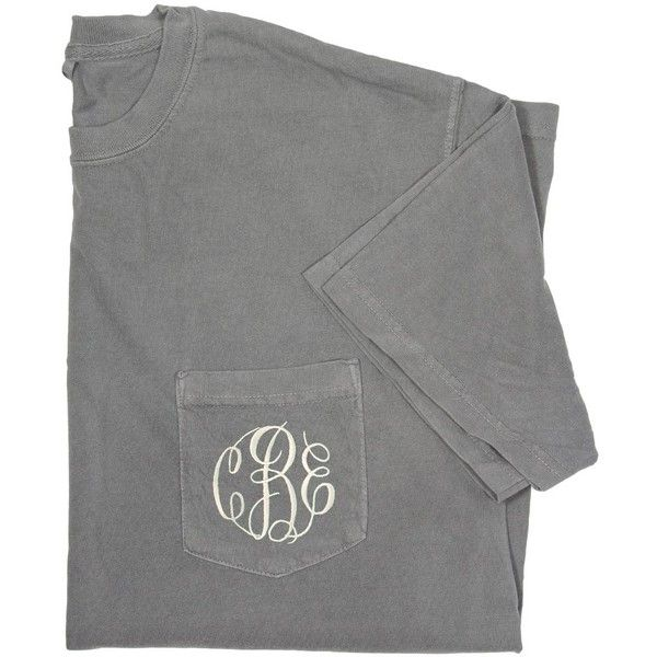 Monogram T-Shirt from HandPicked ($15) ❤ liked on Polyvore featuring tops, t-shirts, shirts, short sleeve, monogrammed shirts, embroidered shirts, embroidered short sleeve shirts, green t shirt and embroidery t shirts