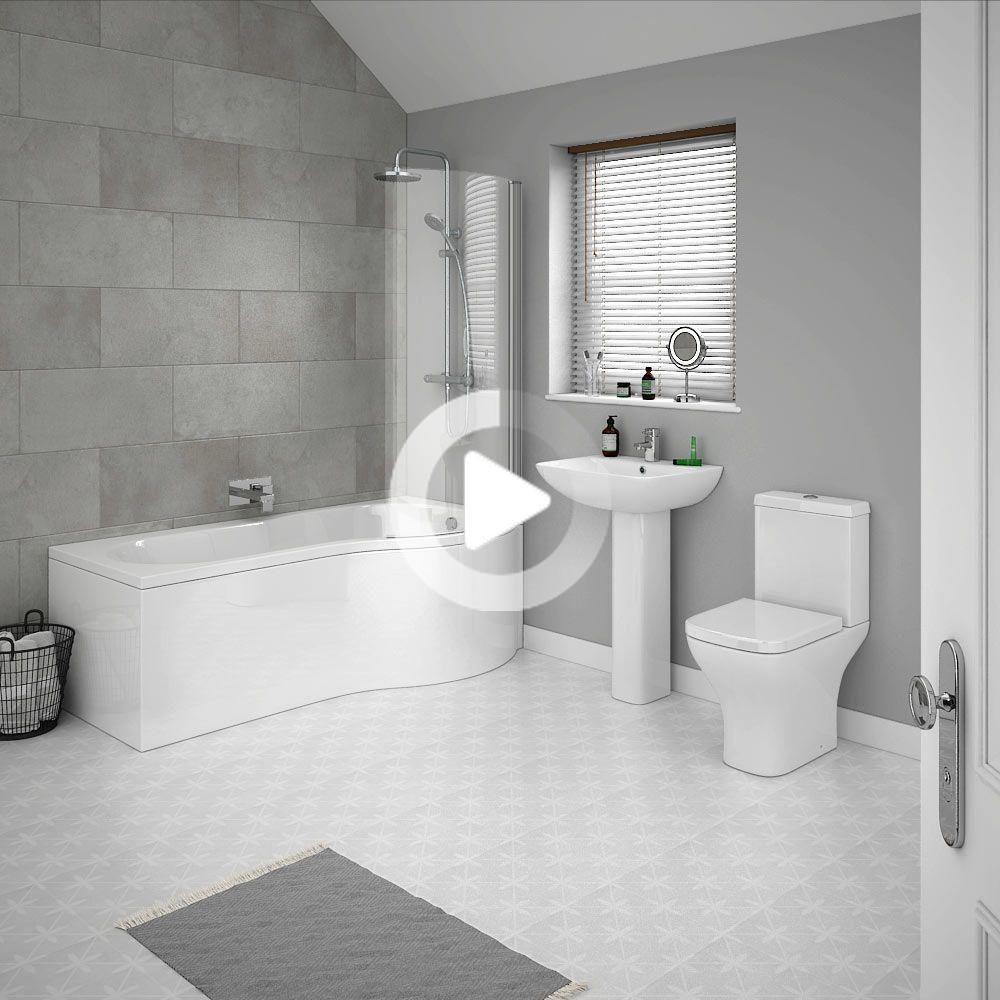 Venice P Shaped Modern Shower Bath Suite Victorian Plumbing Uk In 2020 Modern Bathroom Top Bathroom Design Modern Luxury Bathroom