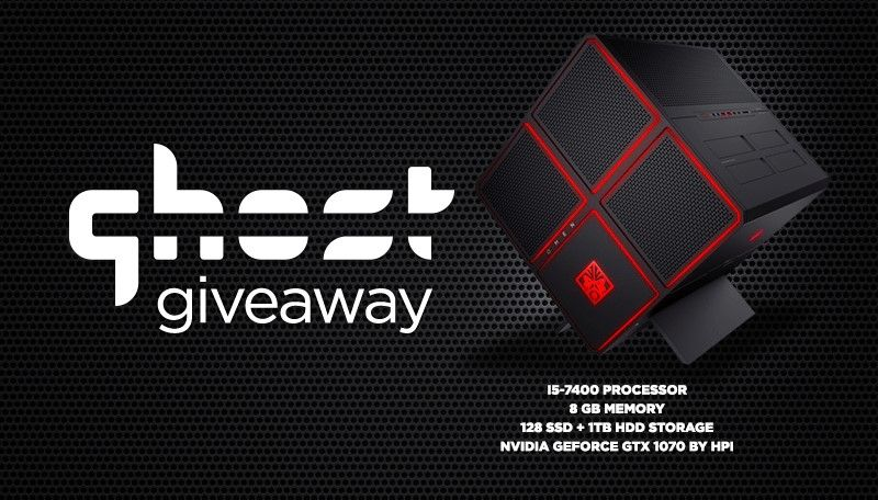 HP OMEN X Desktop Gaming PC Giveaway from Ghost Gaming