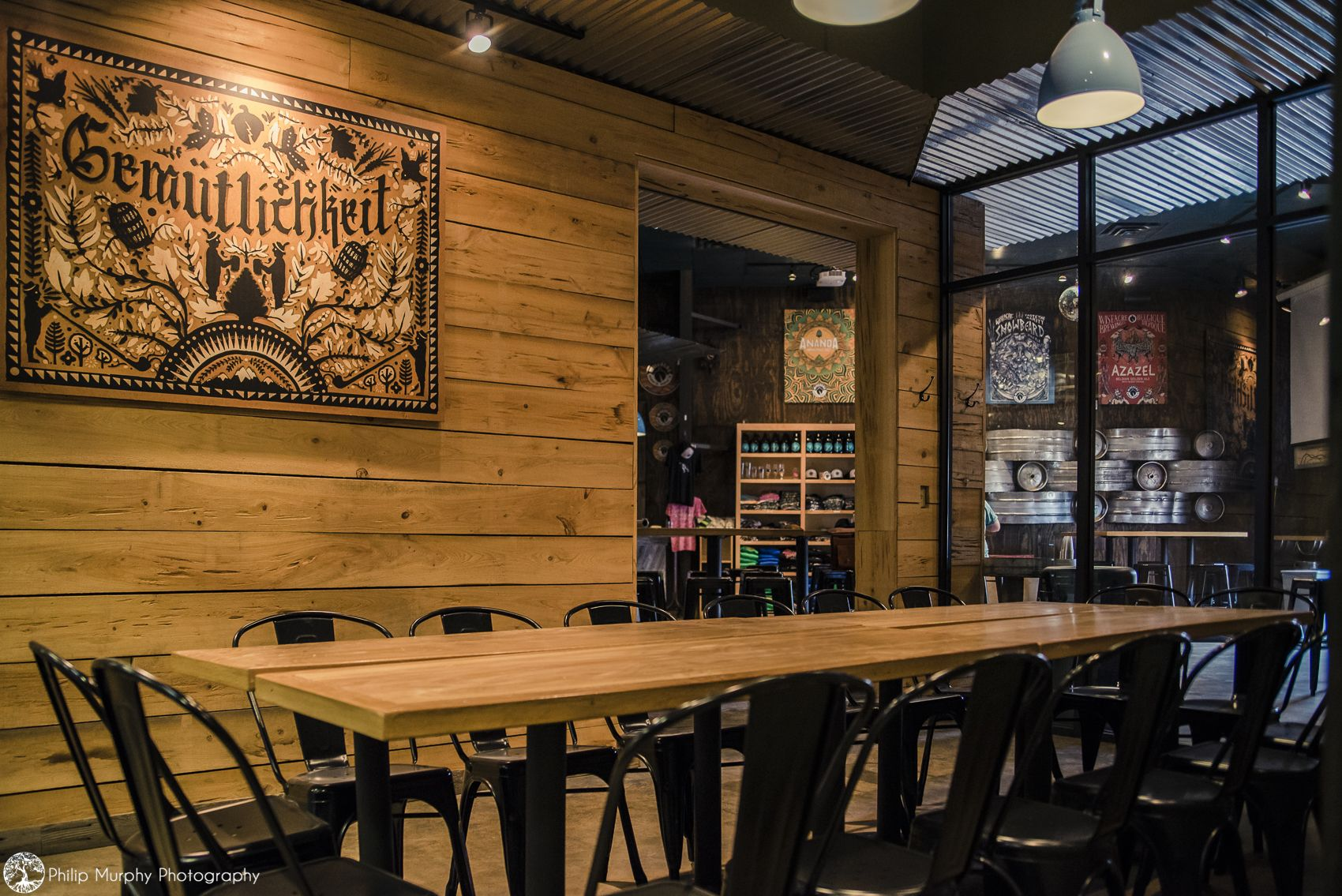 Gemu room at wiseacre brewing co in 2020 private event