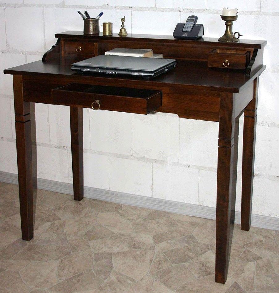 Schreibtisch holz dunkel  http://www.ebay.de/itm/Sekretaer-Konsolentisch-Schreibtisch-holz ...
