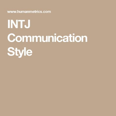 INTJ Communication Style