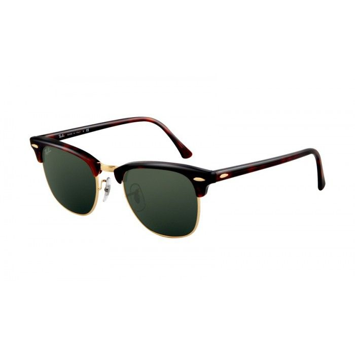 Ray-Ban RB3016 Clubmaster Tort/Arista/Black Green | Ray-Ban ...
