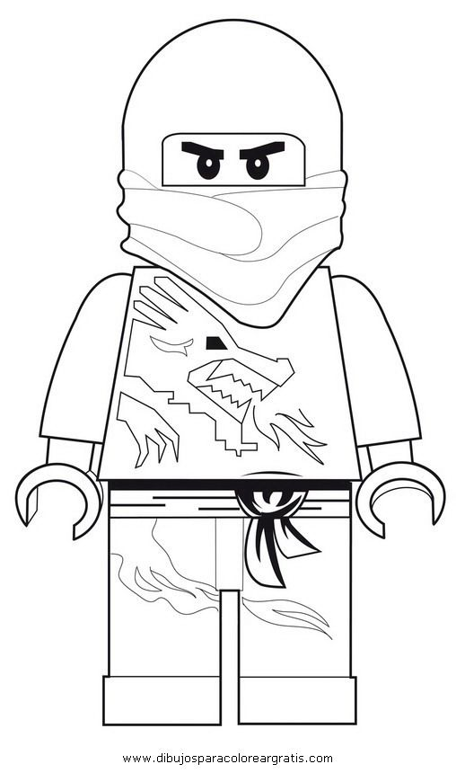 LEGO Ninjago Coloring Pages | Letter N | Pinterest