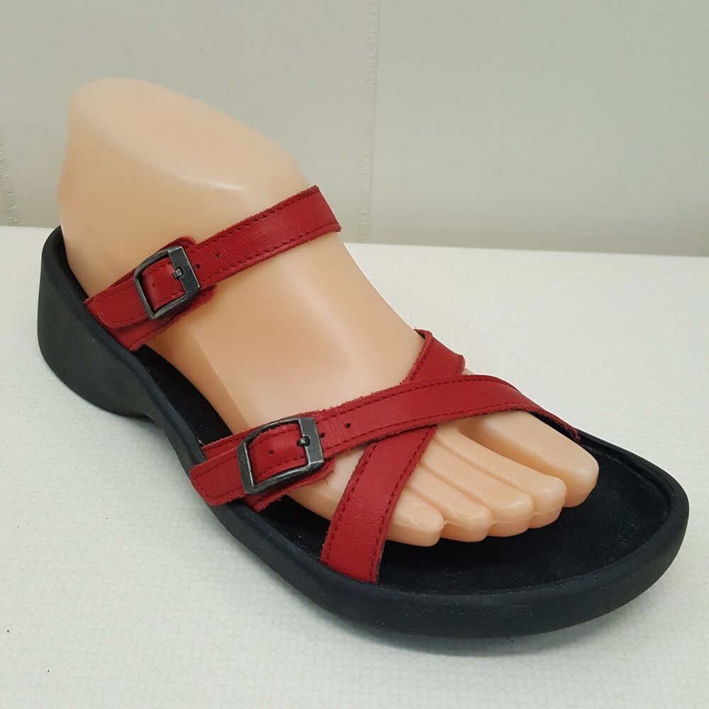 1bf117fa733e Birkenstock Tatami Sandals Shoes Eur 38 US L7 M5 Unisex Red Straps Criss  Cross  Birkenstock  FootbedSandals  Casual
