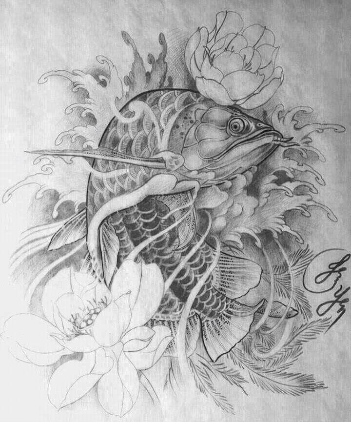 Kết quả hình ảnh cho arowana tattoo | Ý tưởng hình xăm ...