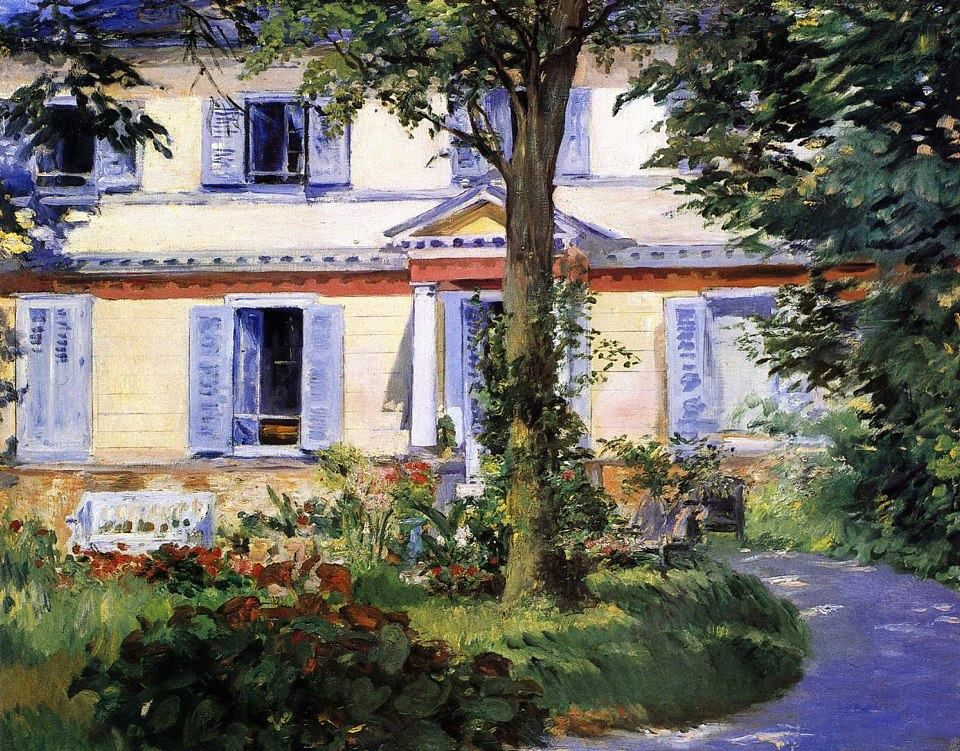 The House at Rueil.1882.by Edouard Manet