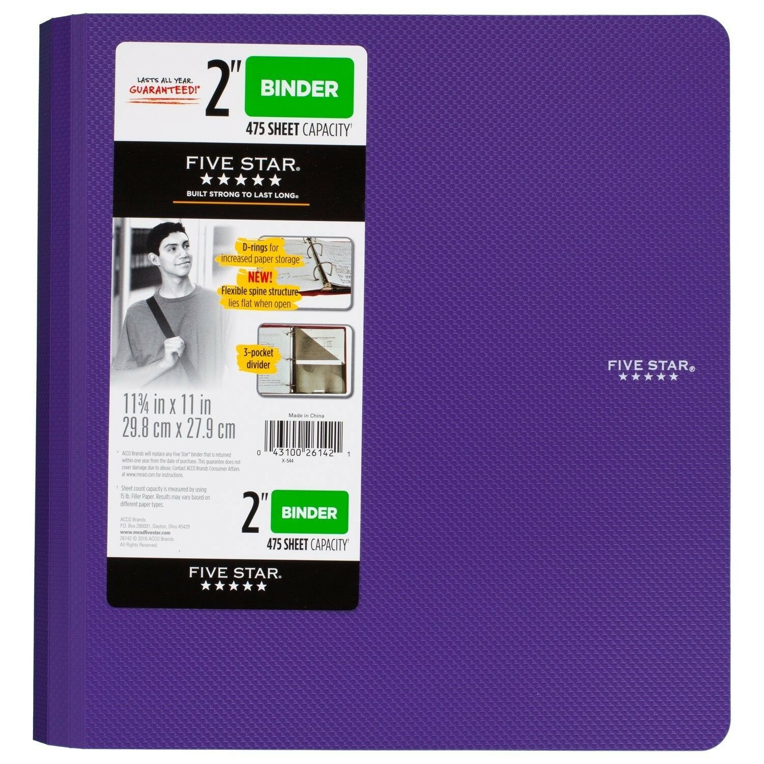 Five Star 2 Inch 3 Ring Binder Plastic Royal Purple 73308 Price 17 04 Easy Ordering Magnificent Price Star Binder Loose Leaf Paper Five Star
