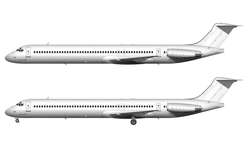 MD-80 side view blank | Airplanes | Airplane, Airline
