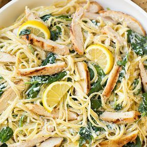 Lemon Ricotta Parmesan Pasta with Spinach & Grilled Chicken Recipe - (4.3/5) #grilledchickenparmesan Lemon Ricotta Parmesan Pasta with Spinach and Grilled Chicken @keyingredient #chicken #grilledchickenparmesan