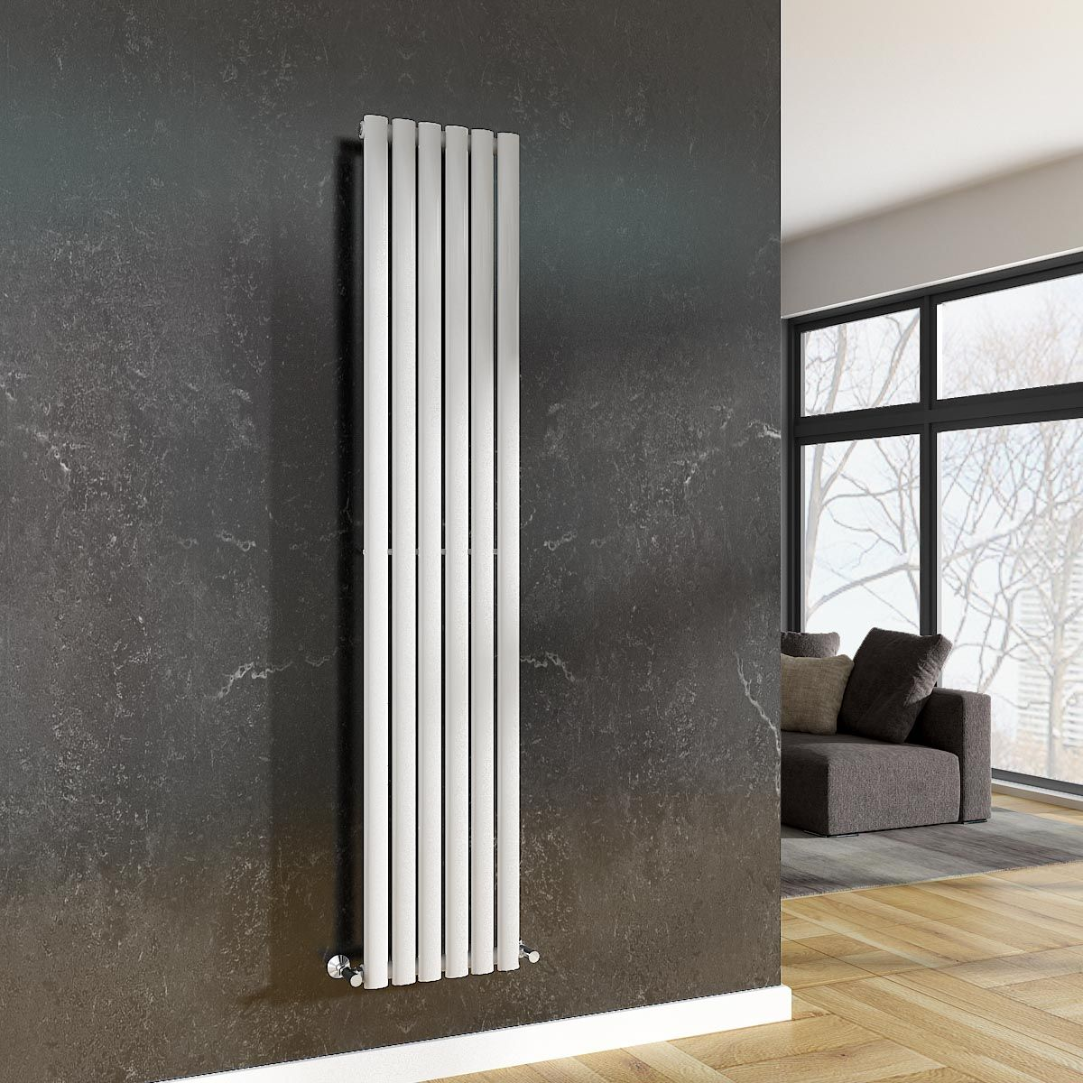 Chrome radiators add a contemporary feel to your space