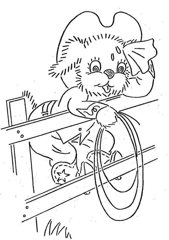 Hand Embroidery Pattern 3405 Cowboy Puppies Dogs by
