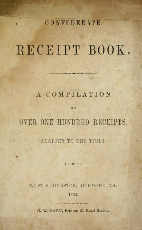 Confederate receipt book A compilation of over traditional - printable receipt book