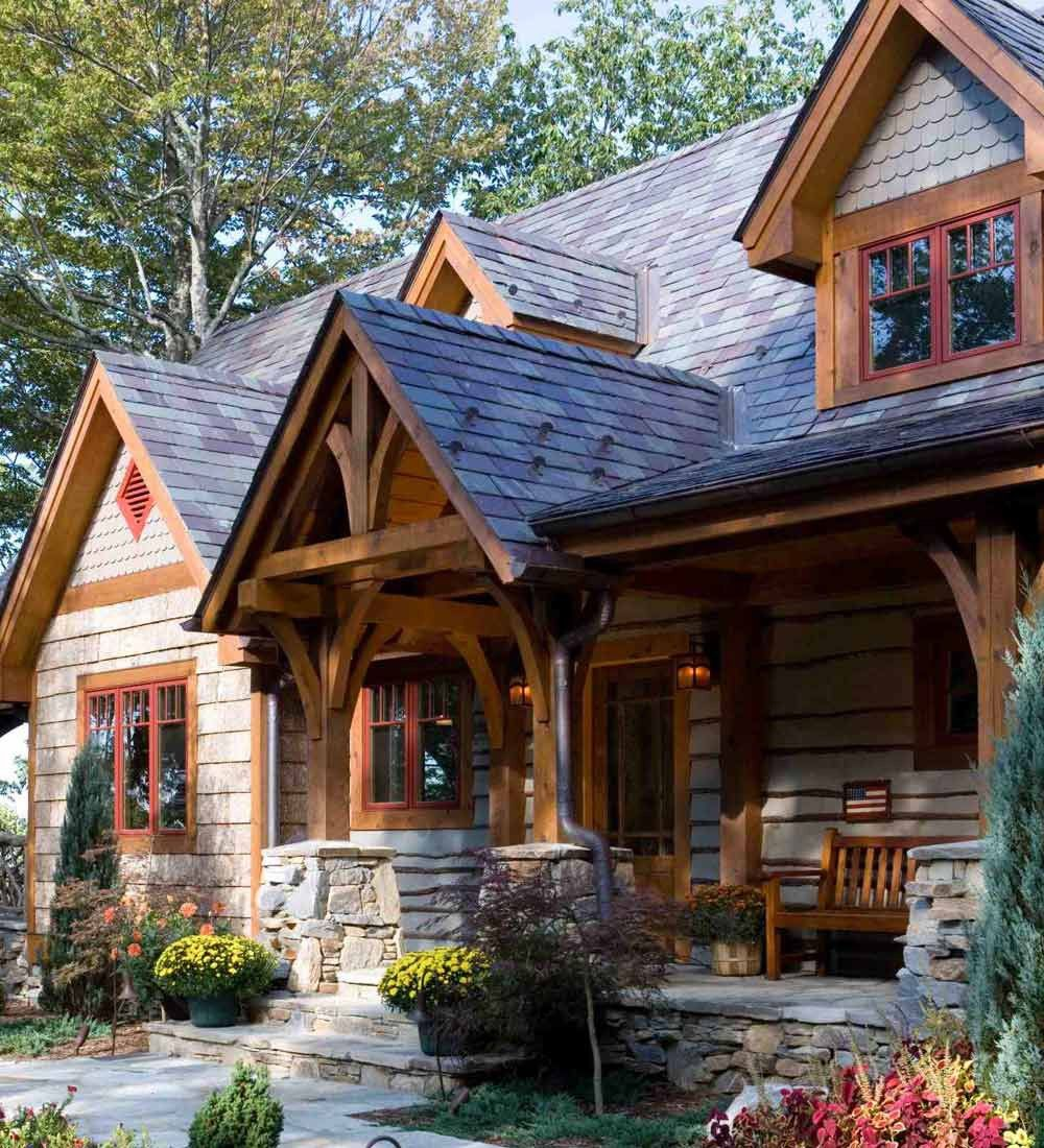 Homes Lodges Timber Frame Post And Beam Homes And Lodges By Mill Creek Post And Beam House Exterior A Frame House Plans Rustic House