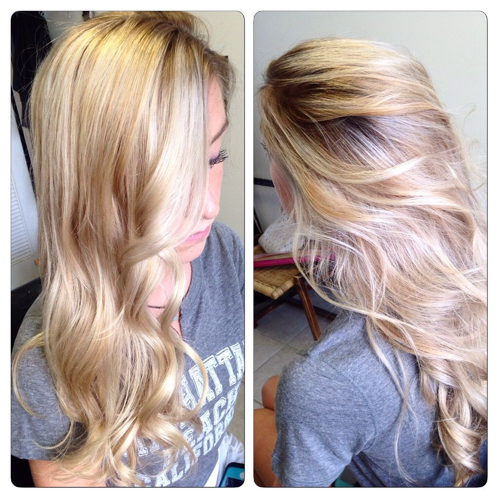 Shadow root with ashy blonde highlights and balayage. Hair by ...