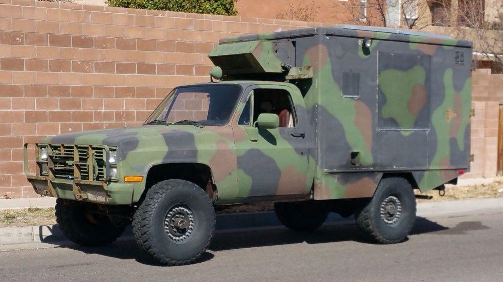 Chevy Military Trucks For Sale >> 1985 Chevrolet Cucv 1 25 Ton 4x4 Commo Van Trucks