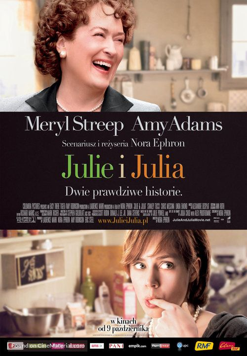 ''Julie & Julia - Julie i Julia'' 2009 Polish movie poster ...
