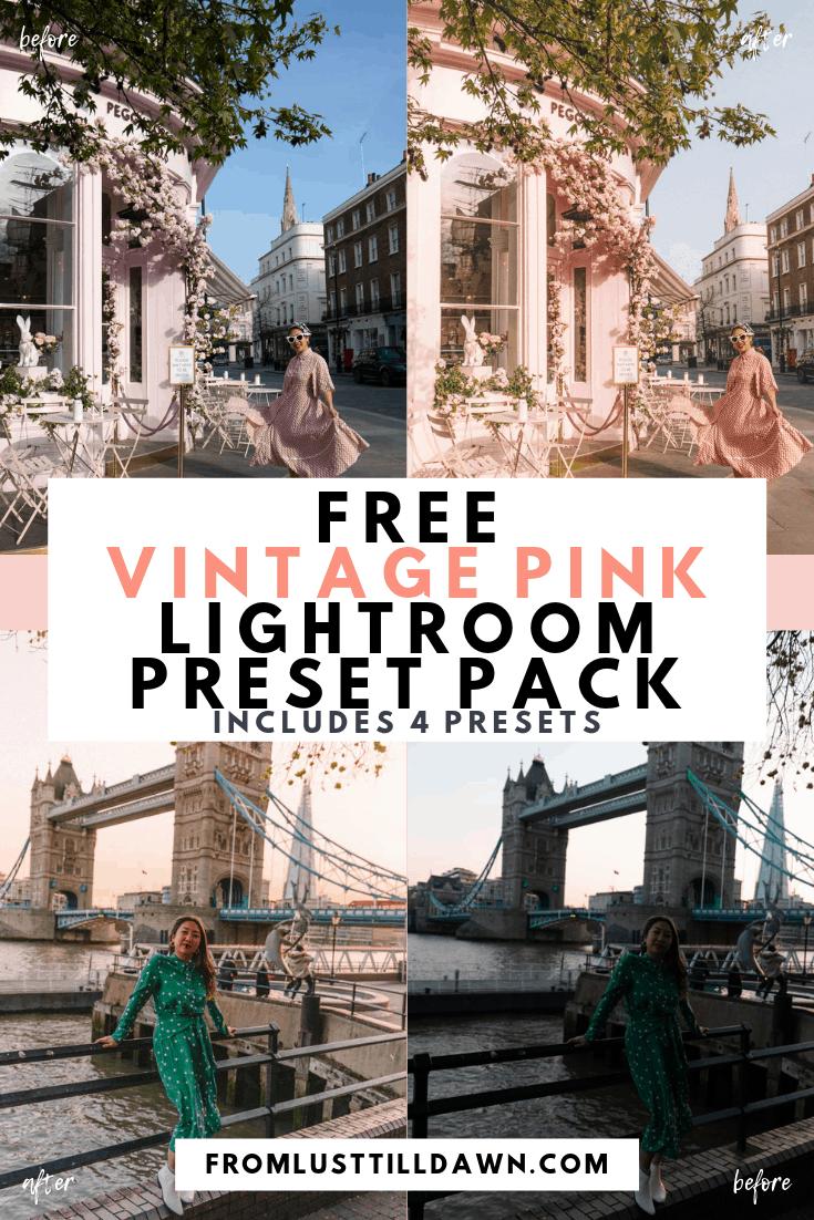 Free vintage lightroom presets