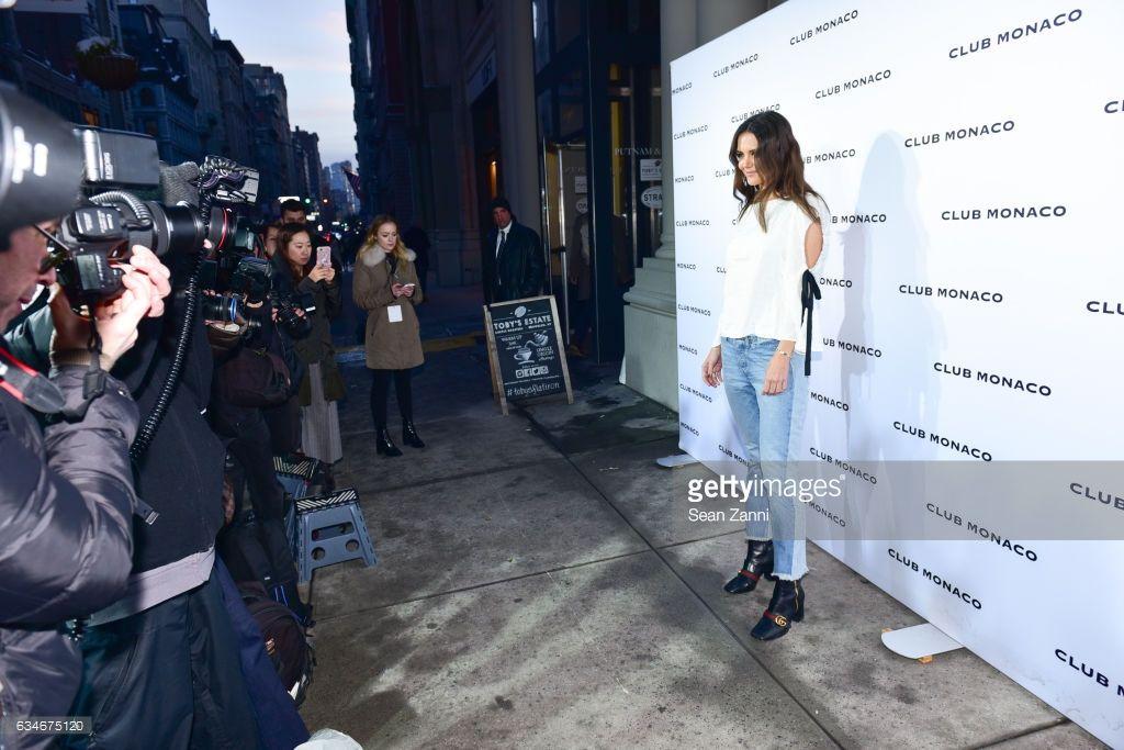 cd586154baf Katie Holmes arrives at the Club Monaco show during New York Fashion Week  at Club Monaco Fifth Avenue on February 10