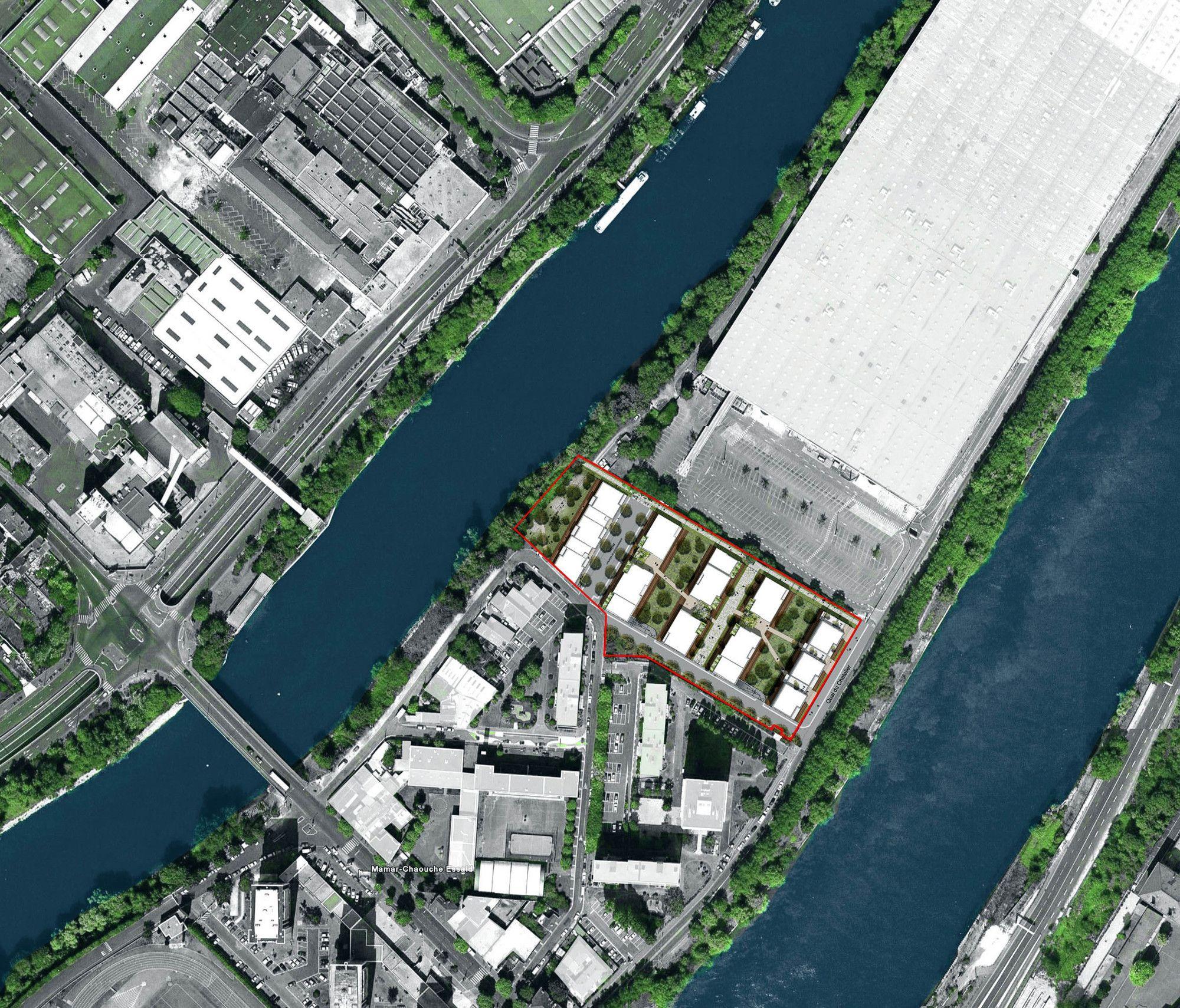 Imagem 13 de 17 da galeria de Entre Deux Rives / PHILIPPON - KALT Architects. Implantação