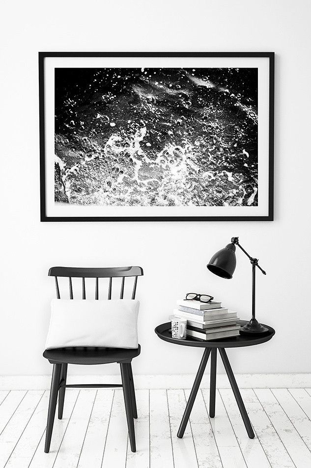 Beach print or coastal interior decor black and white artwork for the wall framed photographed coastal decor and home wares for beach home photogra