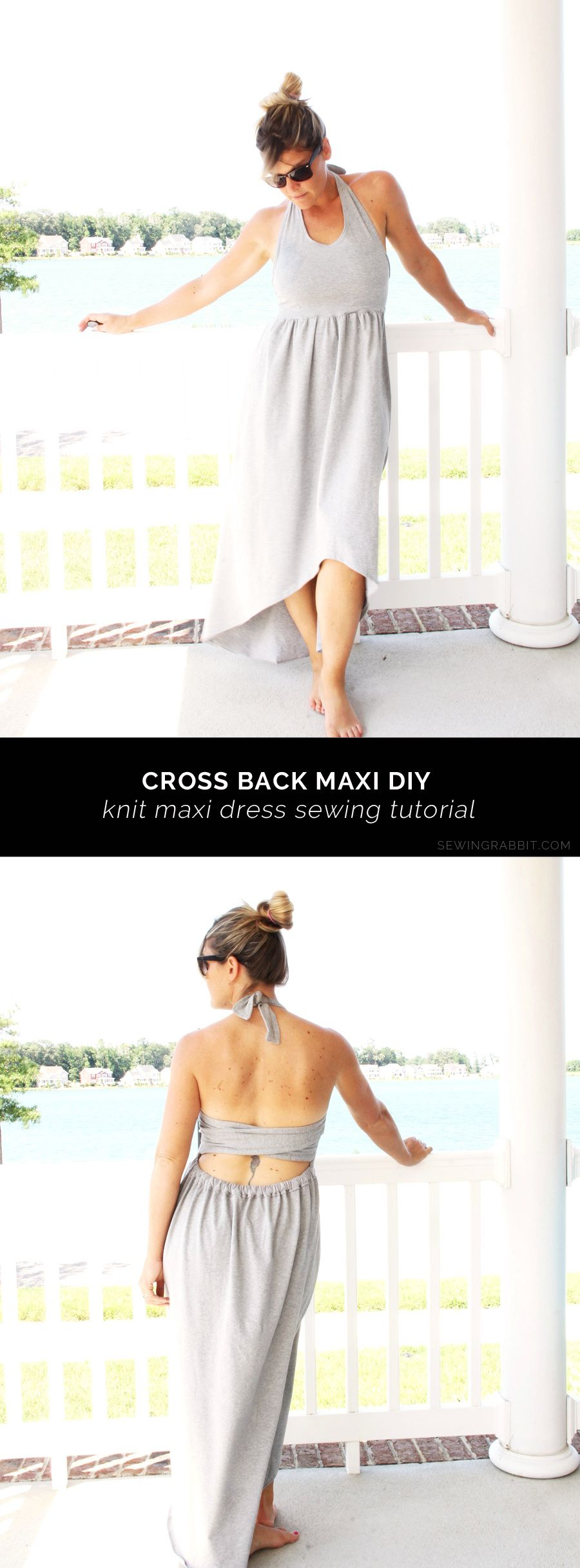Cross back maxi rabbit sewing stitches and sewing ideas