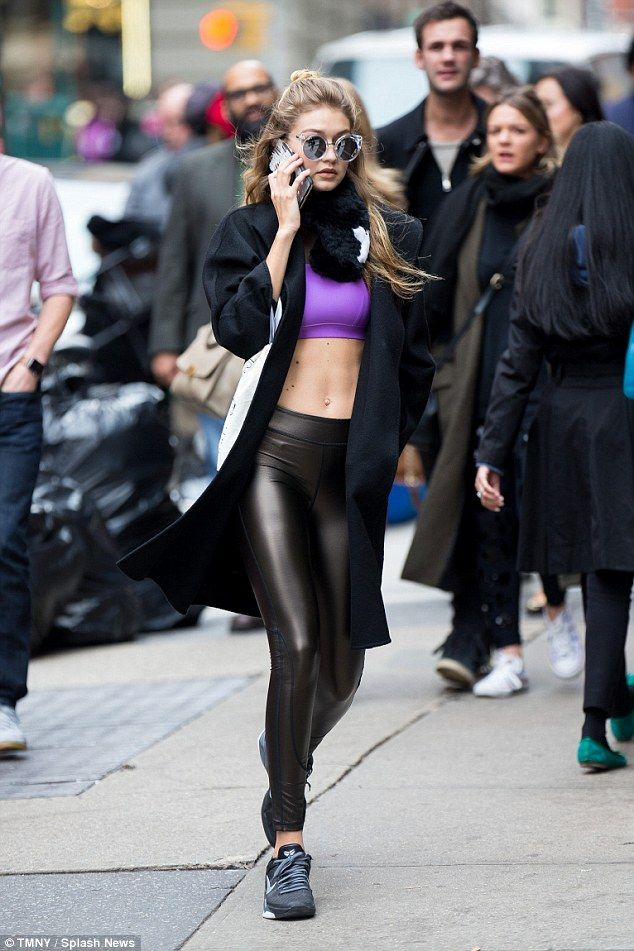 bec3e5b52f0c04 It's the one that I Want: Gigi Hadid seems to be having trouble letting go  of Halloween as she stepped out in New York City once again in a crop top  and ...