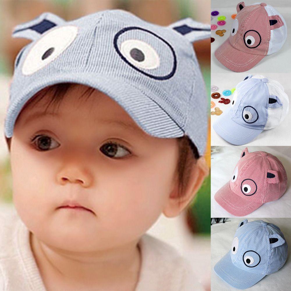 204065c4 Perro beret visera sombrero de sol raya cap kids niños gorras de béisbol  verano jean Snapback casquillos de los niños de la muchacha Enarbolaron los  ...