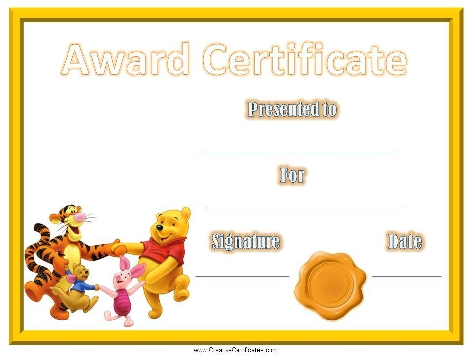 Free printable children\'s certificates. Most of the kids certificate ...