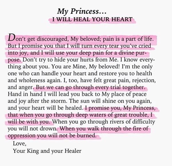 My Princess I Will Heal Your Hearti Needed To See This Today