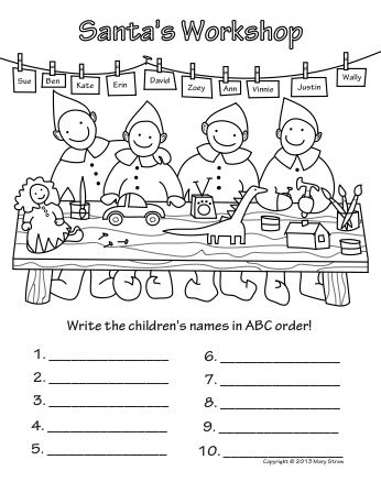 Christmas Activity Coloring Pages Activities, Language arts and - new christmas abc coloring pages