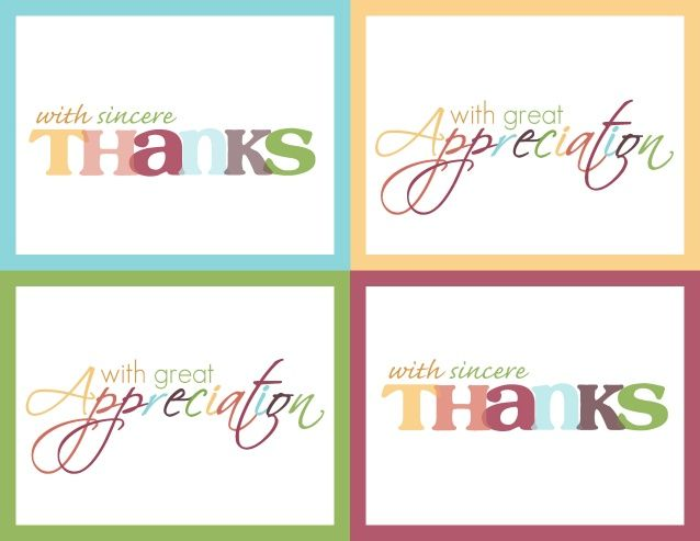 Printable Thank You Note Printable Thank You Cards A Perfect Match