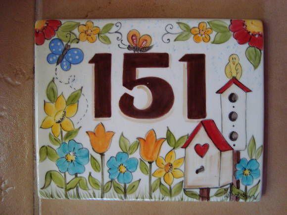 Placa numero para casa sem ferragem placas anita e cer mica for Azulejo numero casa