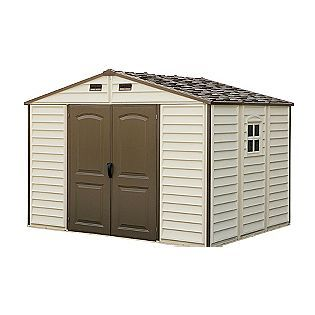 Duramax 10 X 8 Vinyl Fire Retardant Shed With A Galvanized Steel Interior Supporting Structure Sears 902 Vinyl Sheds Plastic Sheds Duramax Sheds