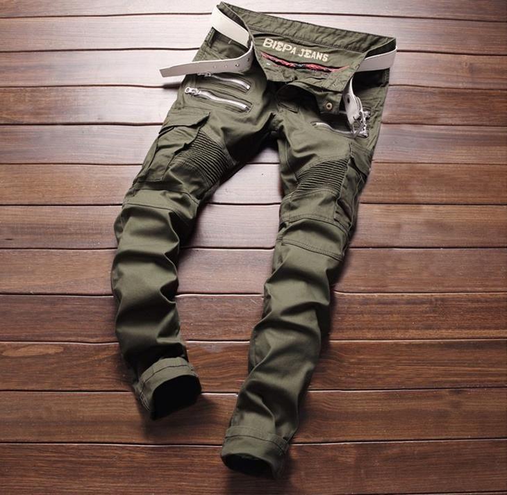 b18e36b2246 2019 Men S Distressed Ripped Skinny Jeans Fashion Designer Mens ...