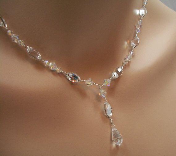 Bridal Jewelry Set Swarovski Crystal Rhinestone By Frostingbridal