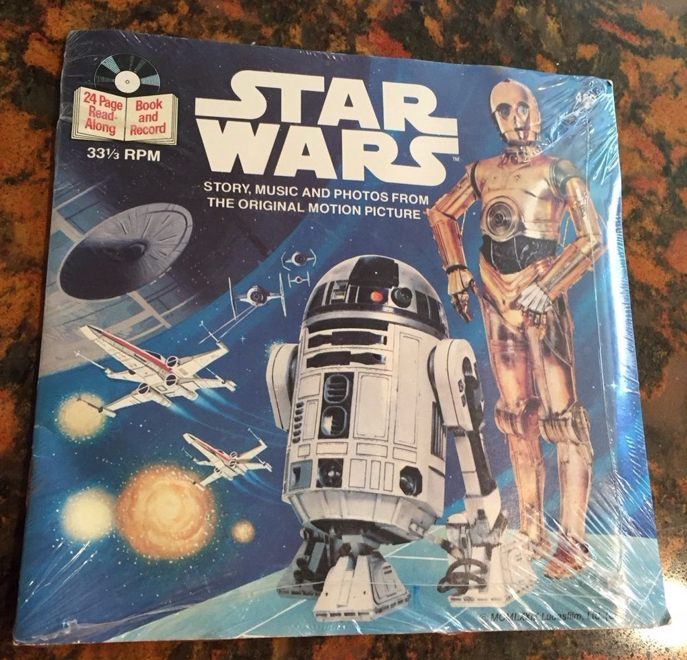 Beuna Vista Records Star Wars Vintage Read-Along Book /& Record VINYL-SEALED